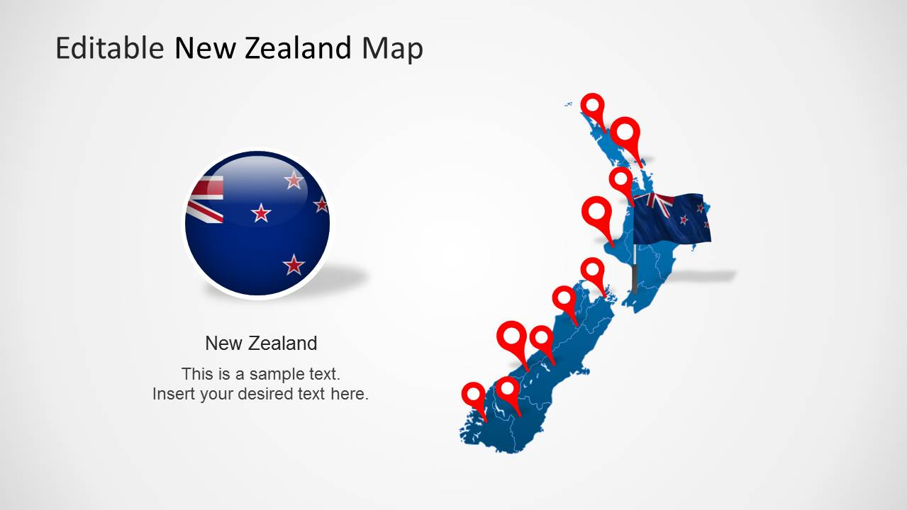 Editable new zealand map powerpoint template slidemodel editable new zealand map powerpoint template toneelgroepblik Choice Image