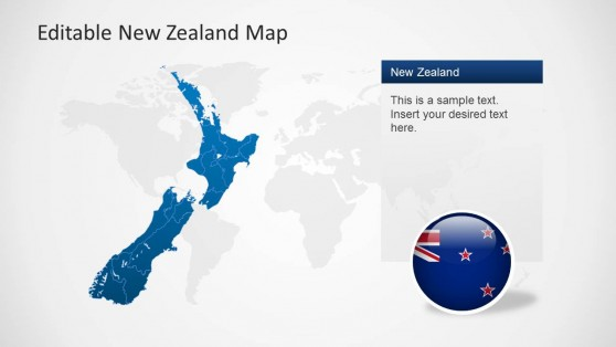 Oceania maps powerpoint templates new zealand illustration map for powerpoint toneelgroepblik Image collections