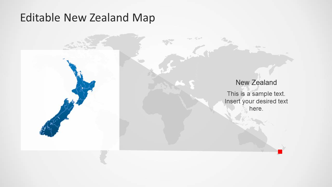 Editable New Zealand Map Powerpoint Template Slidemodel