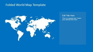 Plain World Map Clipart for PowerPoint