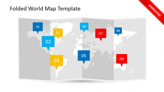 Simple Callout Clipart for Worldmap Slide