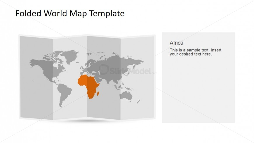 Africa Clipart for PowerPoint in a 3D Folded Worldmap