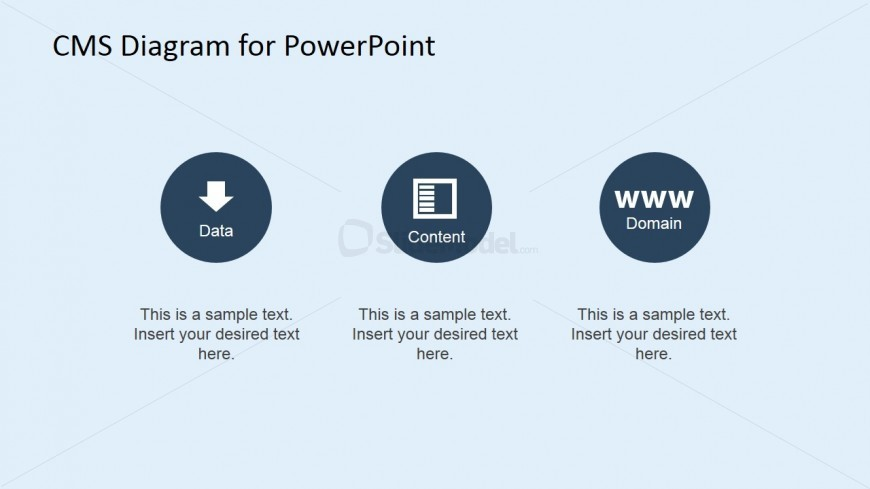 Data, Content and Domain PowerPoint Slide