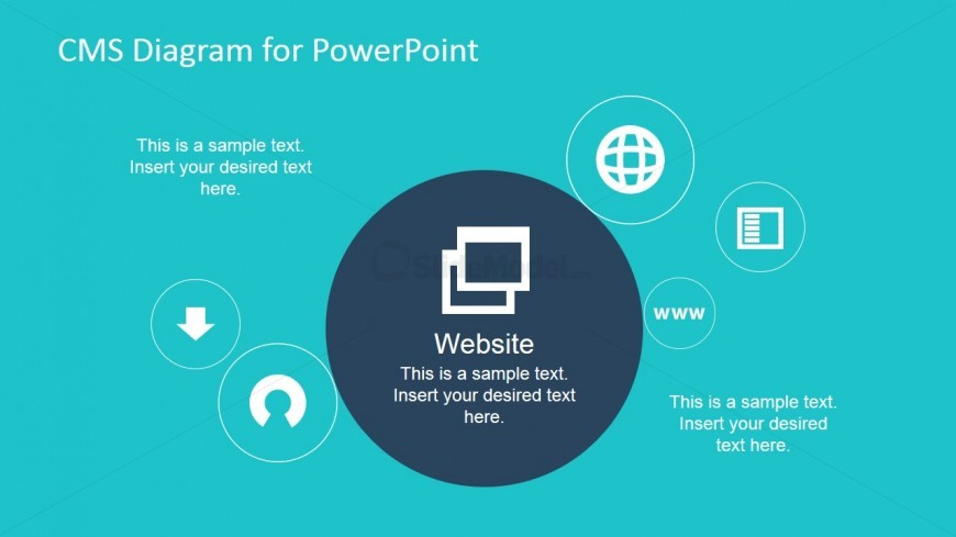 Website in CMS PowerPoint Presentation