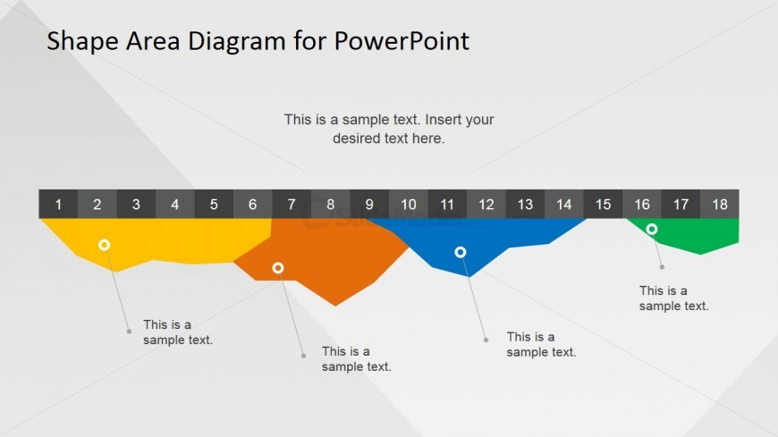Inverted Area Chart Template for PowerPoint