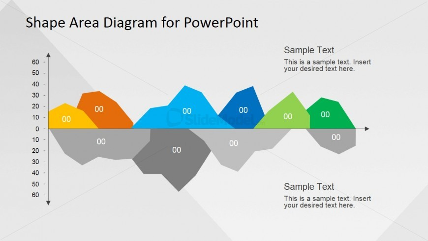 Infographics Area Data Chart for PowerPoint