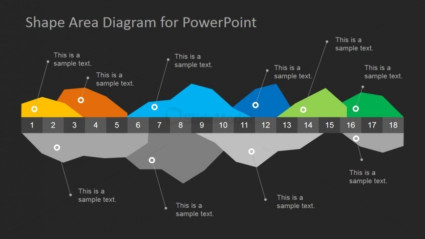 Area Chart Diagram for PowerPoint