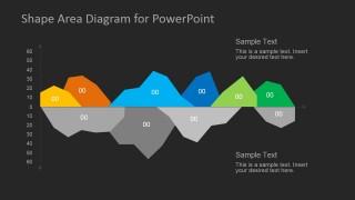 Dark Area Chart Design for PowerPoint