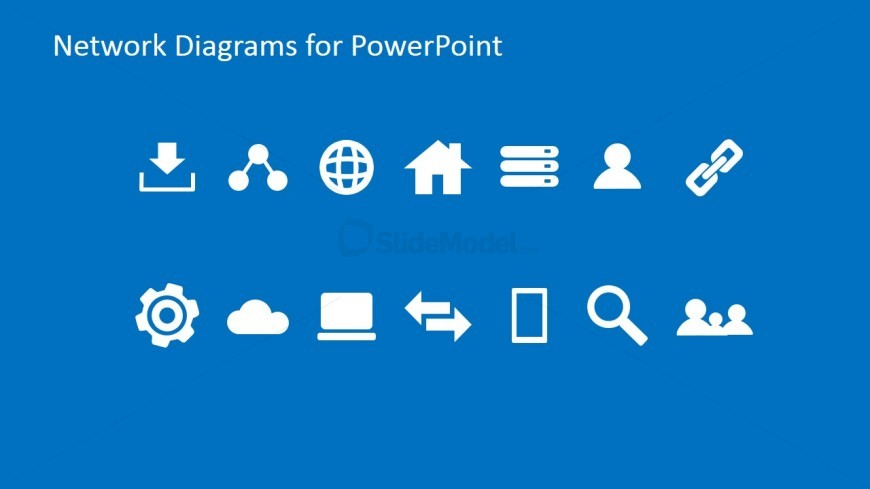 Simple Network PowerPoint Icons & Clipart