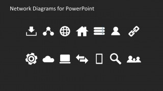Collection of Network Diagram Icons for PowerPoint