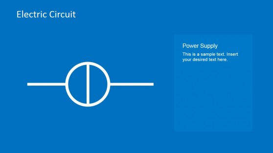 Electric Circuit Power Supply PowerPoint Template