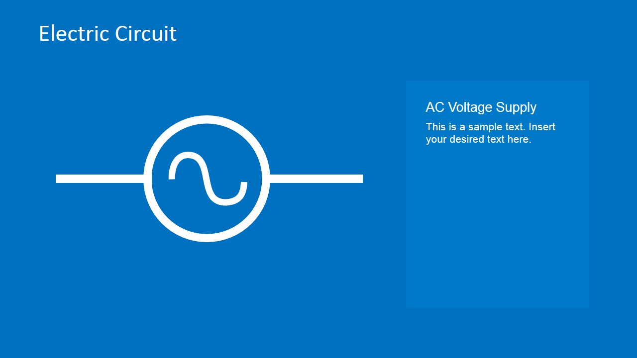 Electric circuit symbols element set for powerpoint slidemodel ac voltage supply powerpoint template biocorpaavc Images