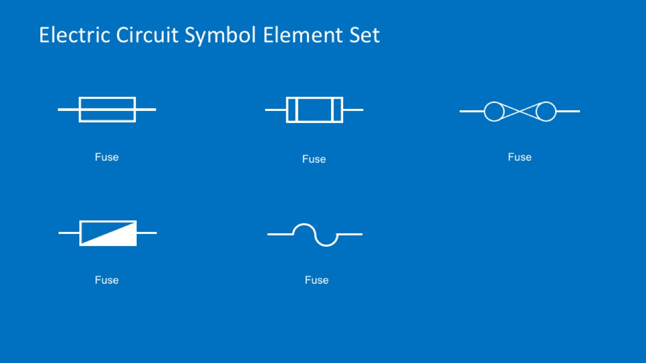 Electric circuit symbols element set for powerpoint slidemodel powerpoint fuse symbols for electrical diagrams ccuart Gallery