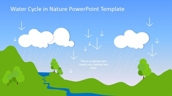 Precipitation Stage Water Cycle Process Template