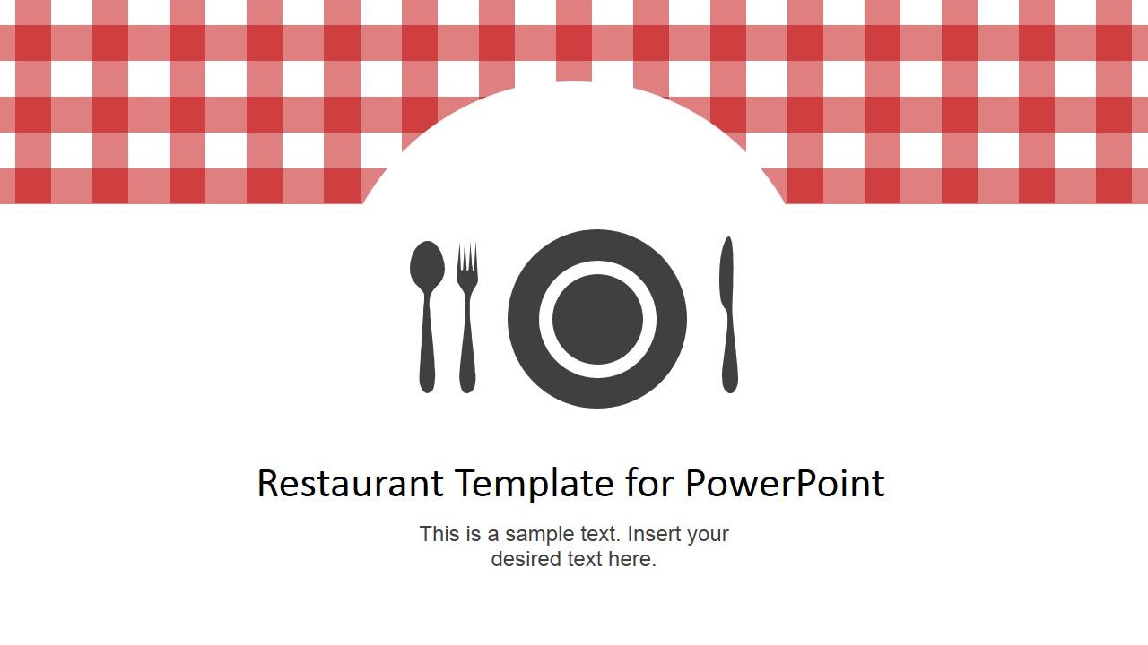 Restaurant Menu PowerPoint Template SlideModel - Powerpoint menu template