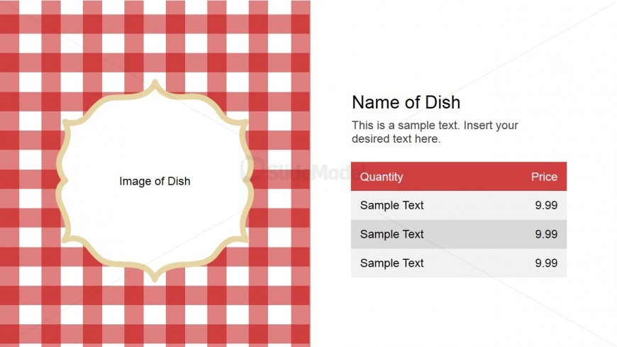name of dish slide design for powerpoint - slidemodel, Modern powerpoint