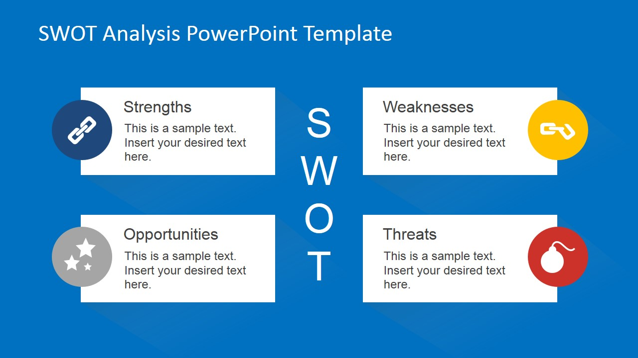Animated SWOT Analysis PowerPoint Template - SlideModel