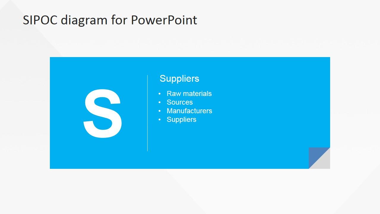 Flat Sipoc Powerpoint Diagram