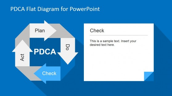 Check Phase PDCA PowerPoint Diagram