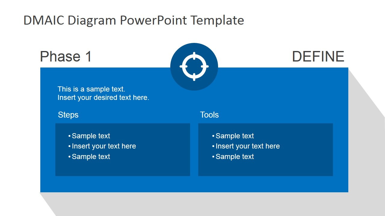 Flat dmaic powerpoint template slidemodel for What is a template in powerpoint
