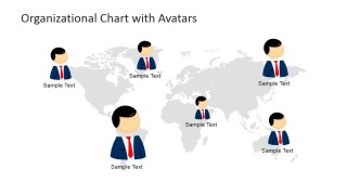 Org Chart Cartoons for Global Reach Slide