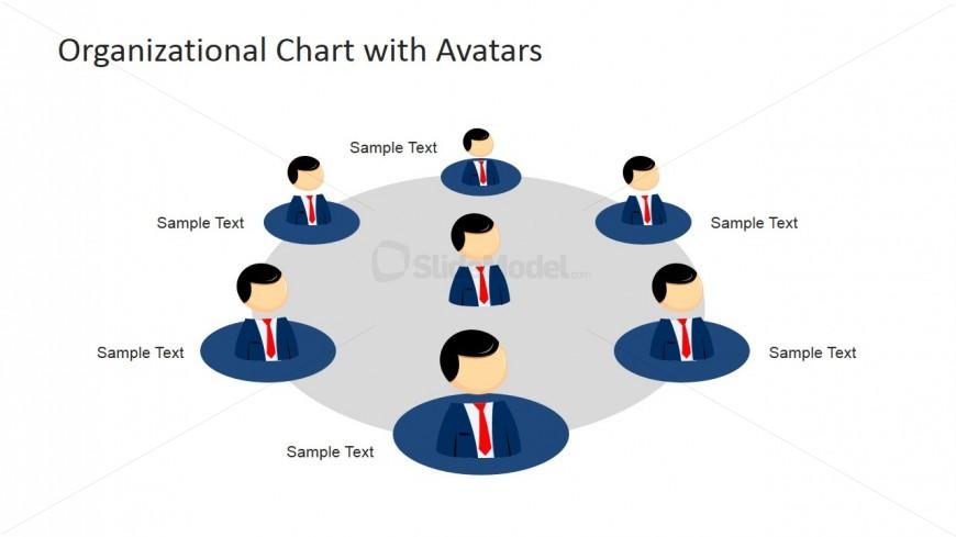 Circular Org Chart Mike Cartoon Avatar