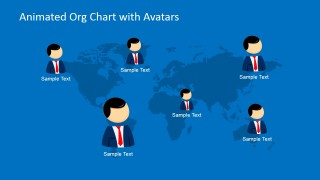 World Map Organizational Chart with Avatars