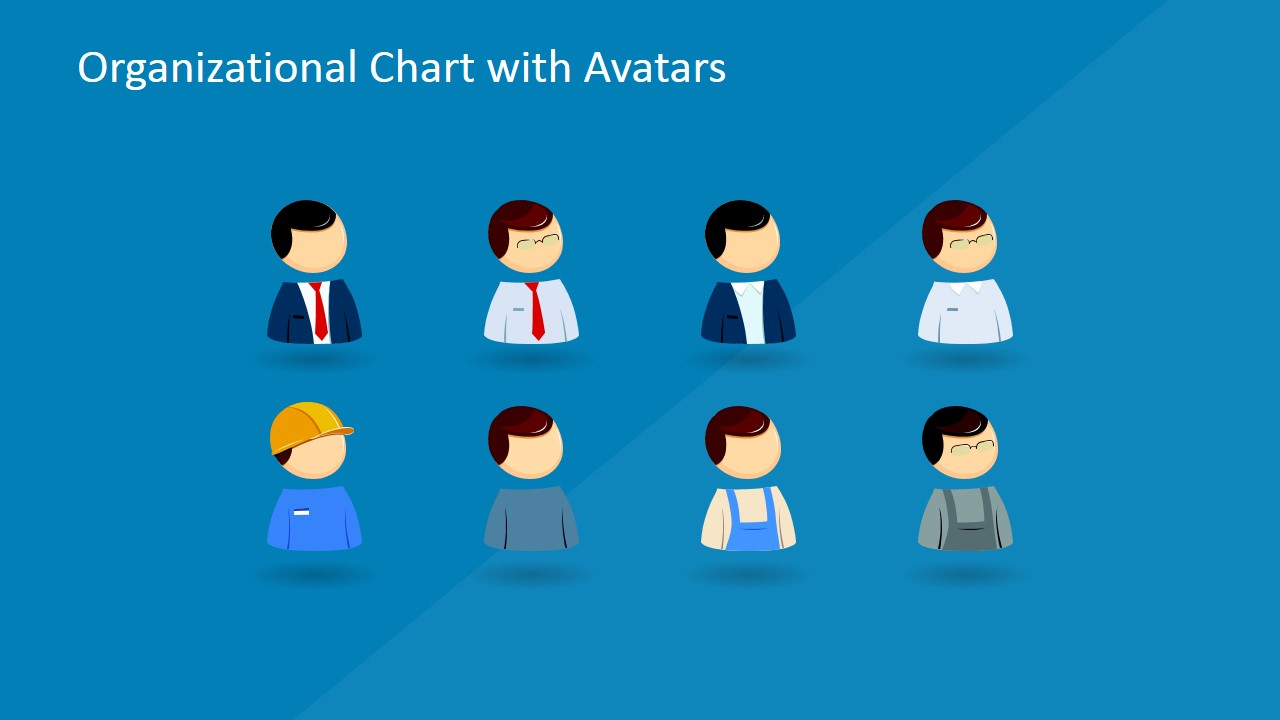powerpoint organizational chart with avatars