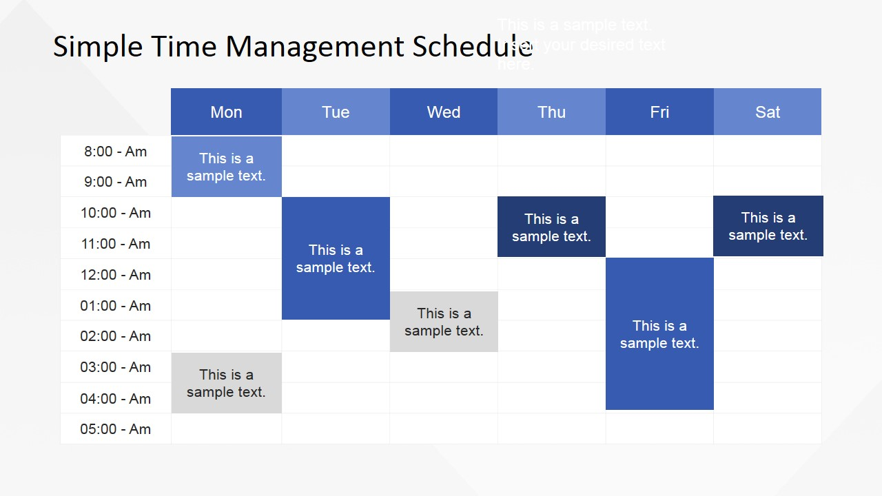 simple time management powerpoint table - slidemodel, Powerpoint Schedule Template, Powerpoint templates