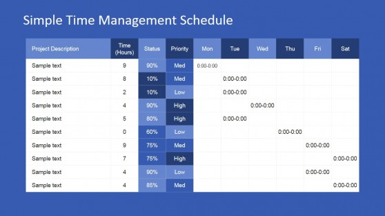 Project Time Management PowerPoint Template