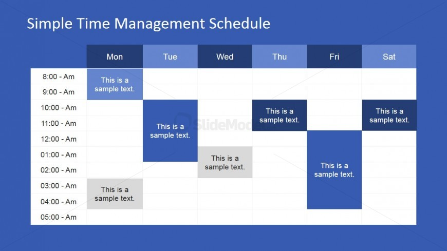 Week Schedule Powerpoint Template Slidemodel