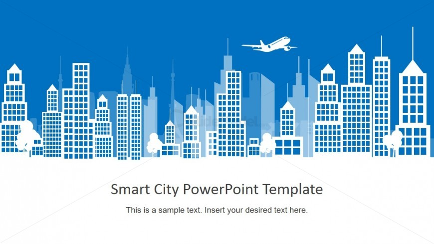 Smart city background powerpoint building shapes slidemodel city background slide with skyscrapers powerpoint shapes toneelgroepblik