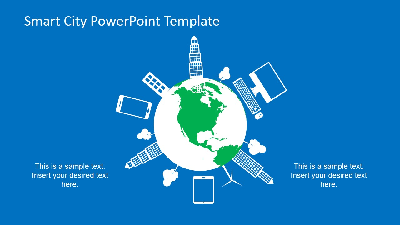 Smart city powerpoint template slidemodel powerpoint slide about smart devices around the globe toneelgroepblik Images