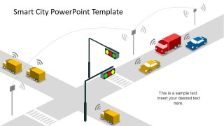 Smart Cities PowerPoint Design about Traffic