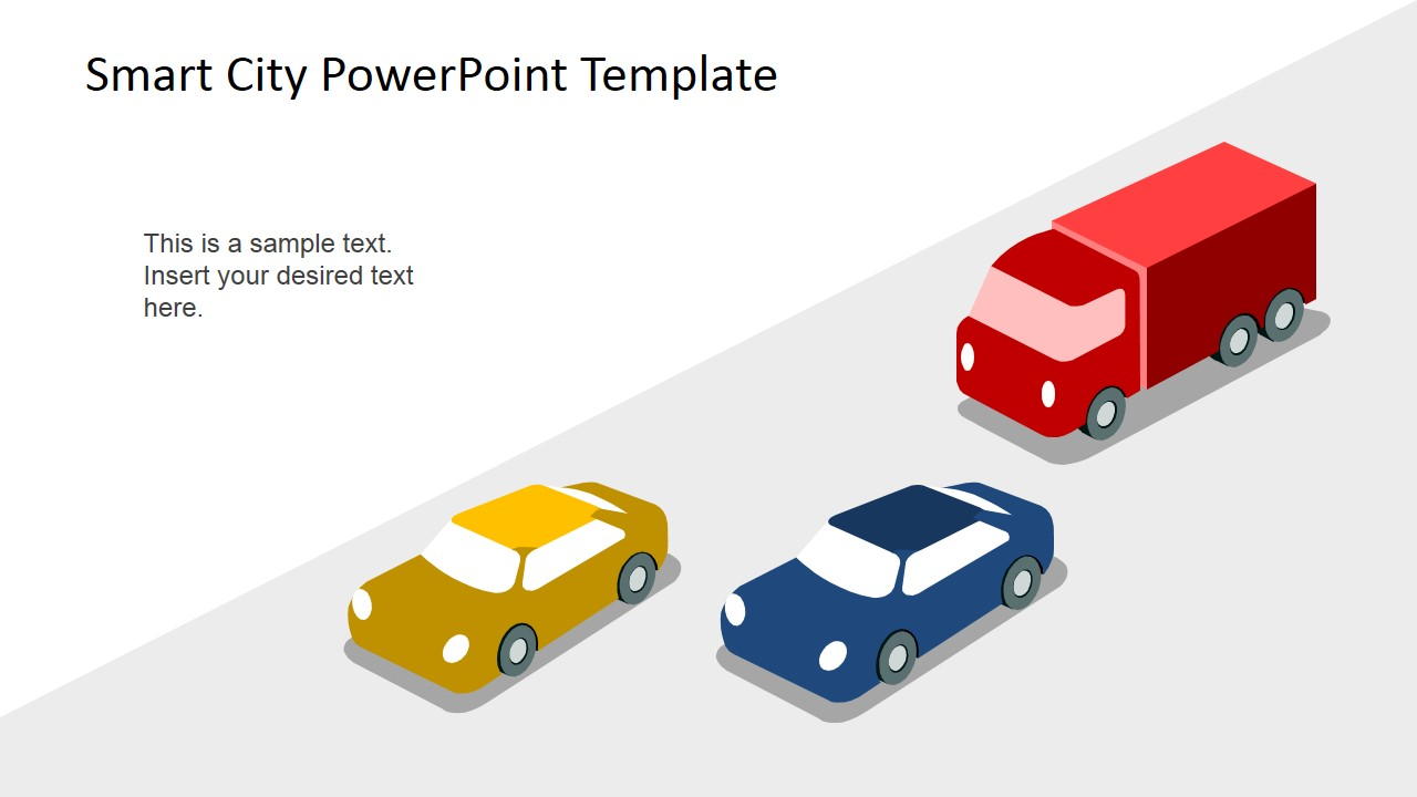 Smart city powerpoint template slidemodel powerpoint shapes of cars and traffic toneelgroepblik Gallery