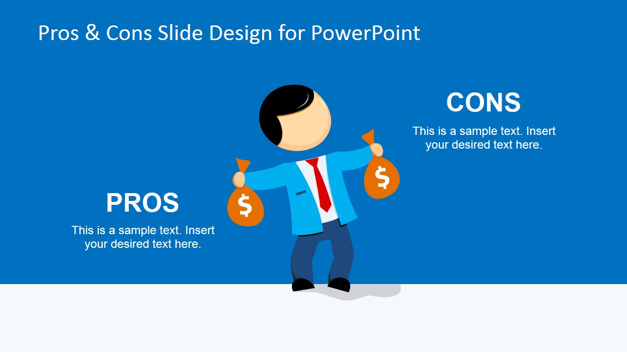 Pros cons powerpoint template slidemodel pros cons powerpoint template male cartoon illustration pros cons slide toneelgroepblik Images