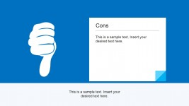 Cons Thumbs Down Picture Illustration for PowerPoint