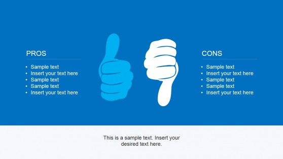 Thumbs Up & Down Picture for PowerPoint