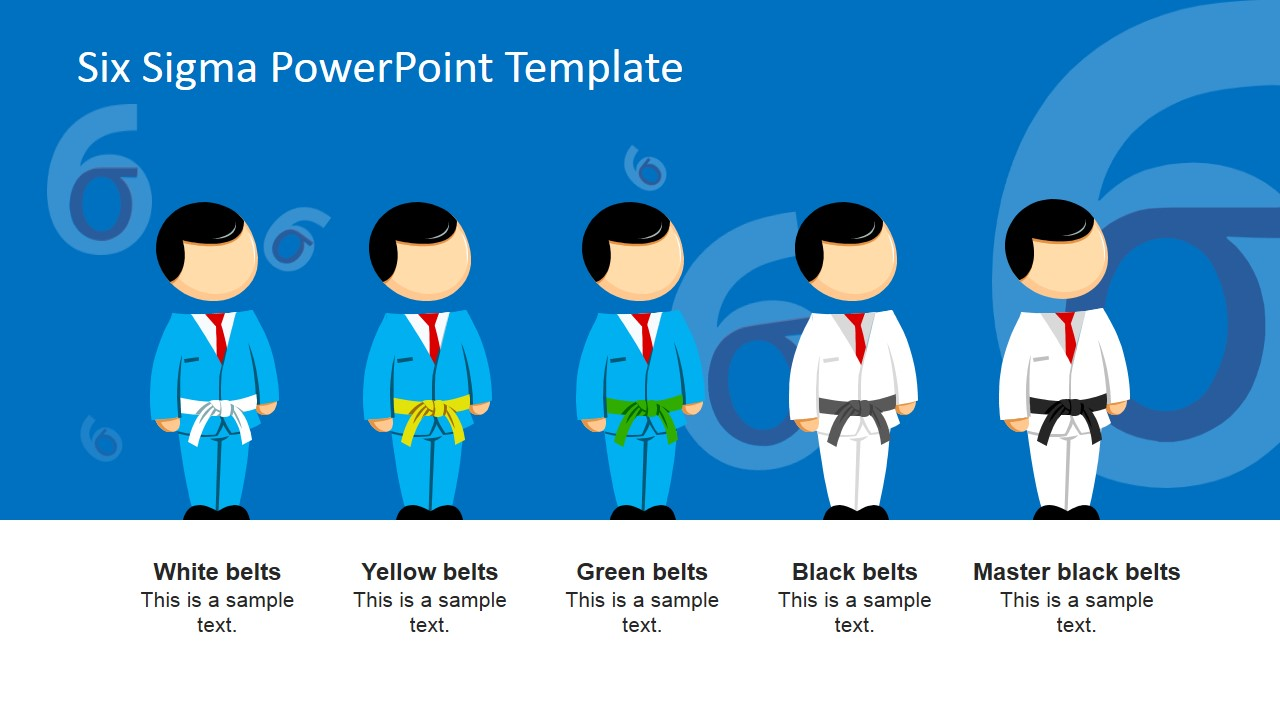 Six Sigma Responsibilities PowerPoint Template