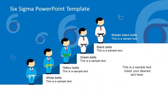 Six Sigma Belt Hierarchy PowerPoint Template