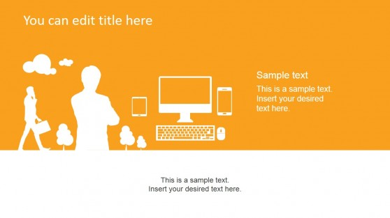 Orange Technology PowerPoint Slide Design