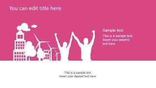 Purple Wellbeing & Healthy Slide Design for PowerPoint
