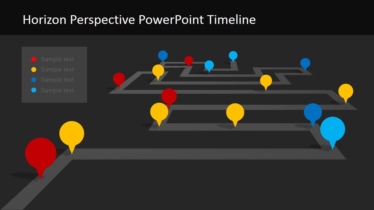 dark background project milestone slide slidemodel