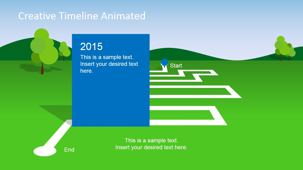 milestone chart templates powerpoint - animated landscape powerpoint timeline slidemodel