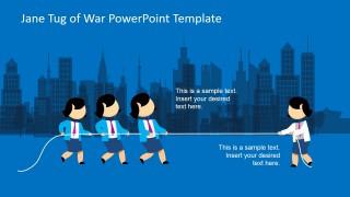 Jane Tug of War PowerPoint Slide Design
