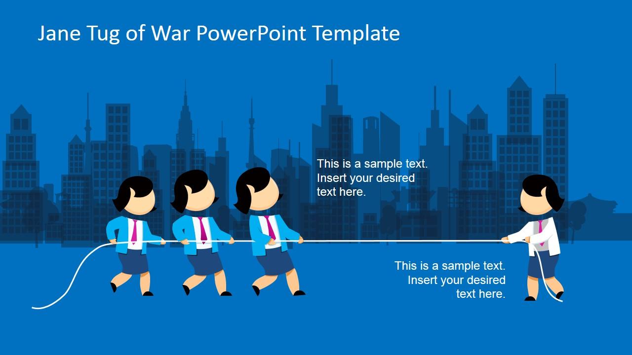 Jane tug of war powerpoint template slidemodel jane tug of war powerpoint slide design toneelgroepblik Images