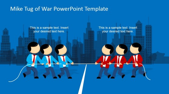 Playing Tug of War Clipart Male Characters for PowerPoint