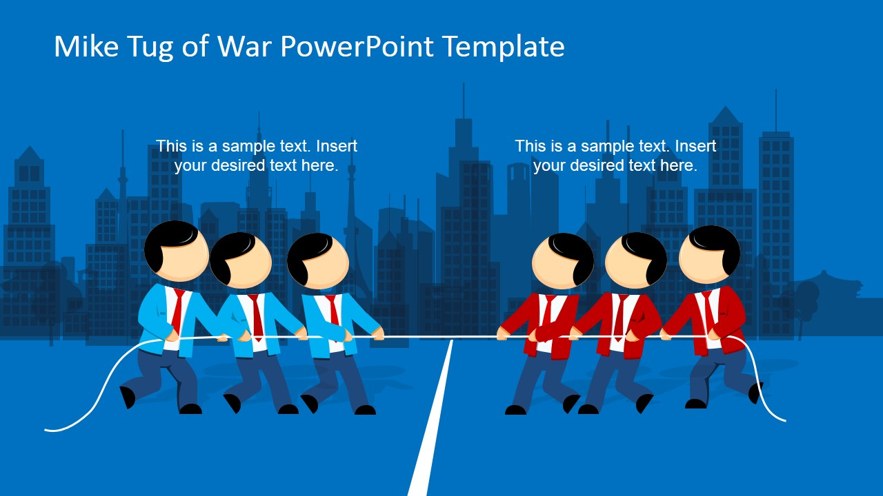 mike tug of war powerpoint template