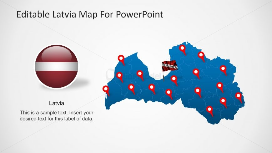 PPT Map of Latvia