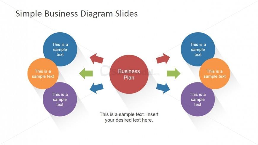 Main Concept Idea Slide Design with Arrows